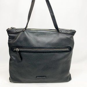 A.G SPALDING & BROS. Pebbled Leather Black Tote
